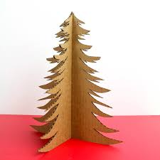 recycled cardboard christmas tree by peachwik