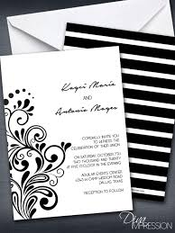 black and white striped wedding invitations black and white striped wedding invitation swirls