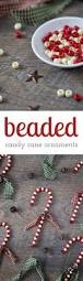 beaded candy cane ornaments candy canes christmas tree and ornament