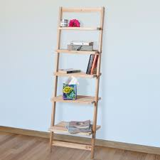 Leaning Bookcase Woodworking Plans by Lavish Home 5 Tier Ladder Blonde Wood Storage Shelf Walmart Com