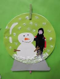 clear plastic plates to make a snow globe kinderland