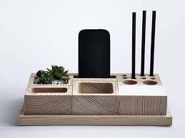 Wood Desk Organizer The Handmade 6 In 1 Wooden Desk Organizer With Phone Holder
