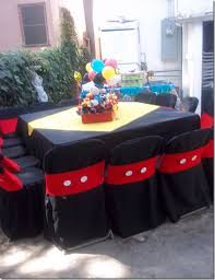 mickey mouse chair covers mickey mouse birthday party ideas chair covers mickey mouse