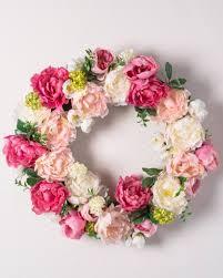 flower wreath peony flower wreath garland swag balsam hill