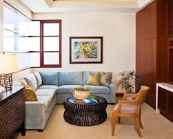 Living Room Contemporary Small Family Room Furniture Arrangement - Small family room