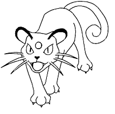 persian pokemon coloring pages pokemon coloring pages