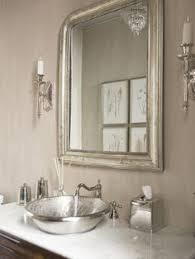 Patterns Of Light Bathroom Interior Powder Room And Half Baths - Silver bathroom