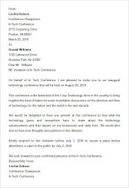 8 conference invitation templates u2013 free word documents download