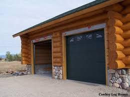 douglas fir attached two car garage cowboy log homes