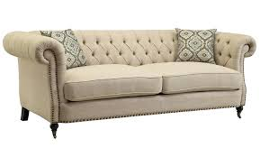 rolled arm sofa neve button tufted with large arms classic set