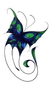 amazon com blue and green butterfly temporary