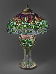 hanging head dragonfly shade on mosaic and turtleback base the