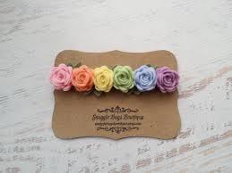 felt flower headband pastel rainbow garland headband wool felt flower
