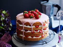 Cake Gluten Free Strawberries And Cream Layer Cake Recipe Food To Love