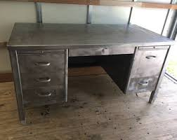 Vintage Metal Office Desk Tanker Desk Etsy