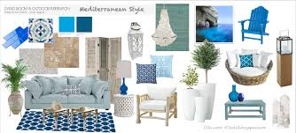 living room mediterranean style furniture design with blue color