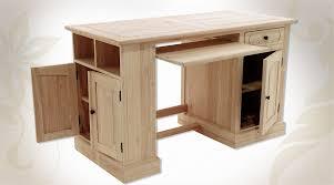 personnaliser bureau bureau en bois massif finition brut prêt à personnaliser