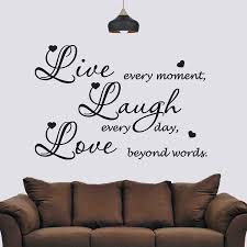 living room wall stickers live laugh love