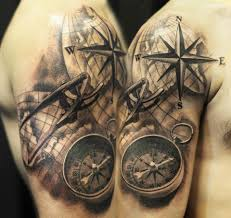 28 compass tattoos with the maritime meanings tattoos win