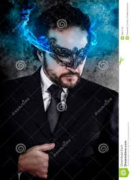 venetian mask men concept business with fiery and venetian mask wearing