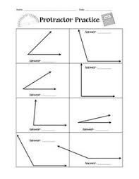 angle u0026 protractor worksheets is cool pinterest