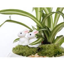 aliexpress buy 2pc mini rabbit garden ornament animals