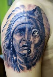 Wolf Indian Tattoos - great pictures tattooimages biz