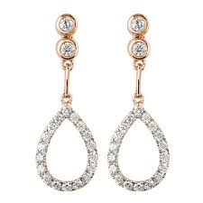 design of earrings mazal diamond 0 42ct f i1 diamond earrings with teardrop shaped