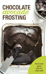 dark chocolate avocado frosting veggie primer