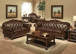 traditional sofa lotus traditional sofa in bonded leather w optional items
