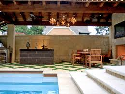 pool and outdoor kitchen designs on a budget photo under pool and