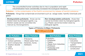 learnhive icse grade 8 biology pollution and conservation