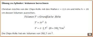 fläche zylinder berechnen zylinder berechnen zylinder volumen oberfläche mantelfläche