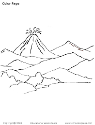 colour by number volcano coloring pages picture of a volcano free