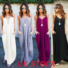 maxi dresses uk v neck sleeveless maxi dresses for women ebay