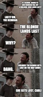 Redhead Meme - rick and carl long meme imgflip