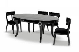 bellagio luxurious black crocodile transitional dining table