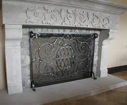Custom Size Fireplace Screens by Awesome White Wrought Iron Scroll Fireplace Screens Helkk Com
