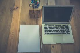 Desk For Laptop And Printer by White Printer Paper Beside Macbook Air Free Stock Photo