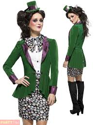 female mad hatter halloween costume ladies mad hatter costume book week day fancy dress womens