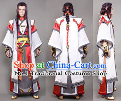 Chinese Halloween Costume Asia Fashion Chinese Male Warrior Cosplay Costumes Hair