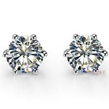 diamond earrings with price 2ct classic 6 prongs earrings gold lovely diamond stud