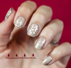 red nail art designs red and gold christmas manicure easy nail