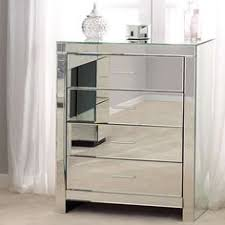 Venetian Bedroom Furniture Dunelm Venetian Stylish White Mirrored Glass 3 Drawer Bedside