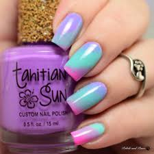 tahitian sun bright tone spring collection nail art polish and