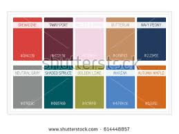 colours of the year 2017 fall colors 2017 colors year palette stock vector 614448857