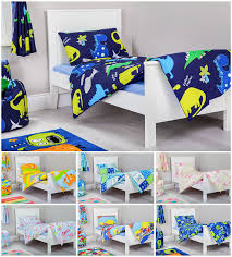 Train Cot Bed Duvet Cover Junior Cot Bed Colourful Transport Print Duvet Cover Set Colour