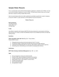 resume examples for server position consruction laborer resume