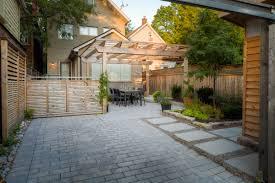 Backyard Parking Backyard Patio Pergola And Parking Hobsonlandscapes Com