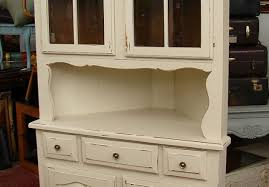 Kitchen Glass Door Cabinets Cabinet White Hutch With Glass Doors Uncommon White Corner Hutch